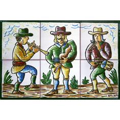 Mural amb 'Cobla de 3 quartans' i dibuix normal