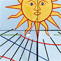 Detall del rellotge de sol