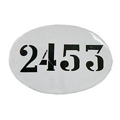 Número de ceràmica en plaqueta ovalada