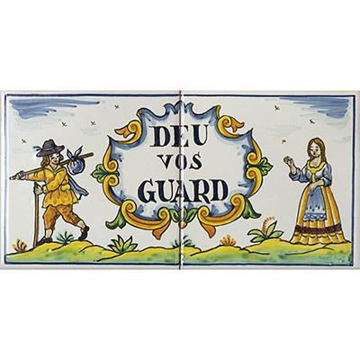 Rajoles amb Déu Vos Guard
