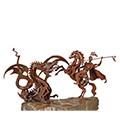 Detall de Sant Jordi i el drac en Ferro forjat