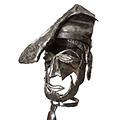 Detall de la cara del Pagès Català de Ferro forjat