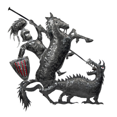Sant Jordi i drac en Ferro forjat