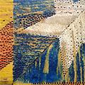 Detall de l'estelada pirogravada i pintada a mà