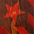 Detall de l'estelada pintada a mà