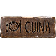 Rètol de fusta estil càmping