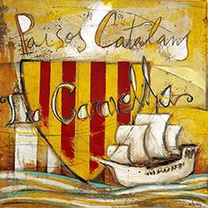 Escut de Catalunya amb Caravel·la