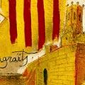 Detall del quadre d'agreïment de la Torre de Claramunt a ...
