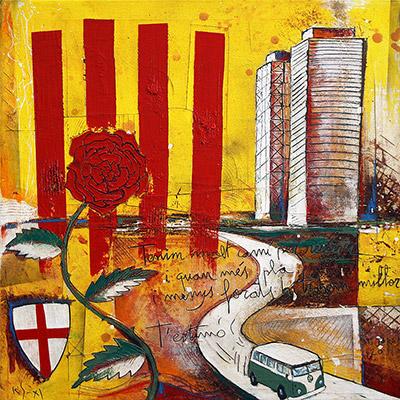 Senyera amb Port Olímpic Barcelona