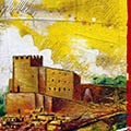 Detall del quadre personalitzat amb senyera i Castell de Tous