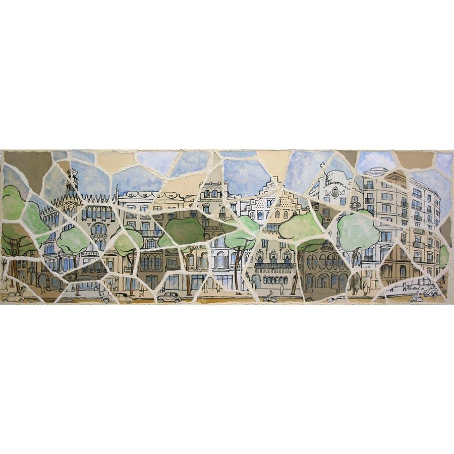 Mosaic amb el Quadrat dor, Barcelona - artdelaterra.cat ...