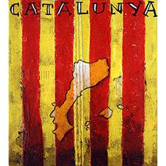 Senyera amb Països catalans i lletres