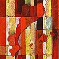 Detall del quadre d'estelada blava amb colors