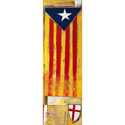 Estelada amb escut de St. Jordi
