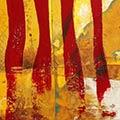 Quadre amb estelada roja més Països Catalans i escut de Sant Jordi