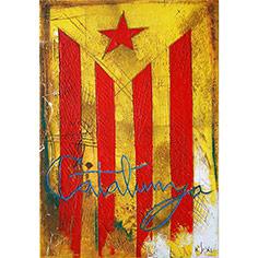 Quadre amb estelada i lletres 'Catalunya'
