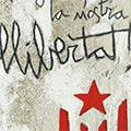 Detall del quadre Estelada i text escrit