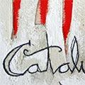 Detall del quadre 4 barres i 'Catalunya'