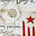 Detall del quadre Estelada, perfil PPCC i text escrit