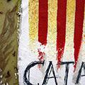 Detall del quadre amb Senyera + símbols i lletres