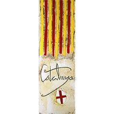 4 barres, 'Catalunya' i un escut de St. Jordi