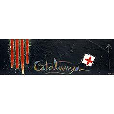 4 barres amb 'Catalunya' i creu St. Jordi