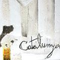 Detall del quadre estelada blanca d'estil 'minimal'