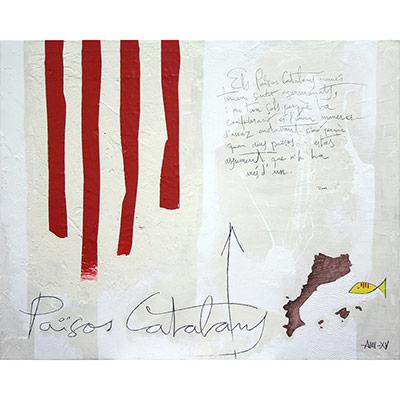 4 barres, Països Catalans i dita