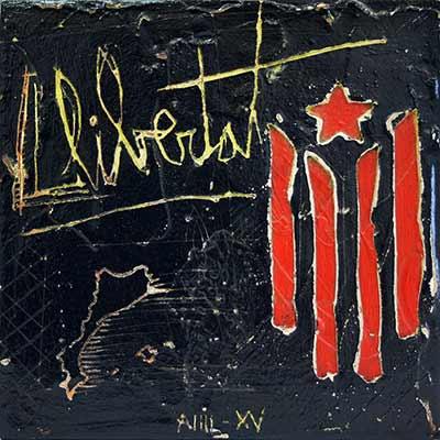 Estelada i 'Llibertat' escrit