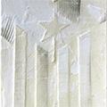 Detall del quadre d'estelada blanca d'estil minimal