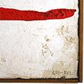 Detall del quadre amb marc de fusta