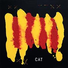 Pintura amb senyera i 'CAT'