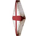 Vista 3/4 del rombe amb creu de St. Jordi
