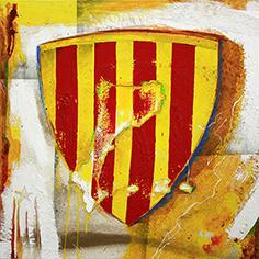 Escut de Catalunya amb els Països Catalans