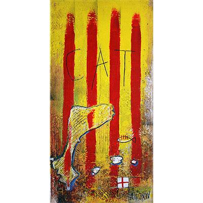 Quadre amb senyera i Països Catalans