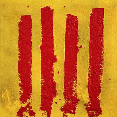Quadre pintat amb senyera catalana