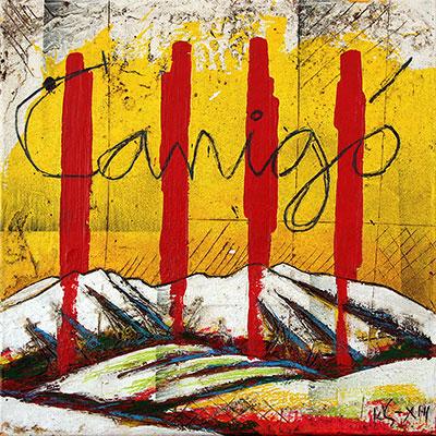 4 barres amb muntanya del Canigó