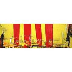 Senyera amb lletres 'Catalunya'