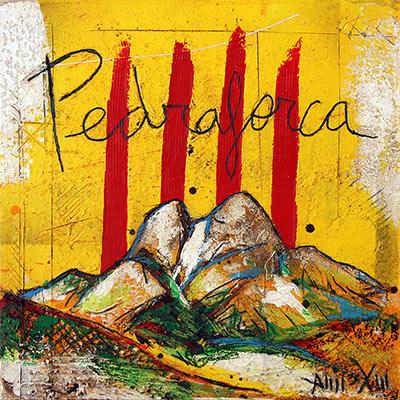 4 barres amb muntanya del Pedraforca