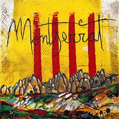 4 barres amb muntanyes de Montserrat