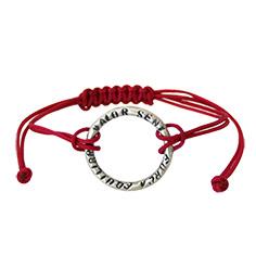 Braçalet de fil i 'anell' en Plata 'Força, equilibri, valor i seny'
