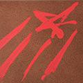 Detall del targeter pintat amb estelada
