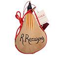 Bota de vi de pell natural personalitzada amb nom