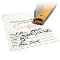 Firma + Data + Certificat d'autenticitat