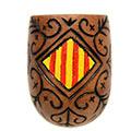 Detall de l'escut català i filigranes