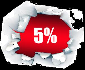 Ahórrate un 5% para siempre