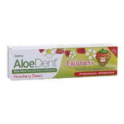 Aloe vera dentífrico para niños sin flúor (sabor fresa)