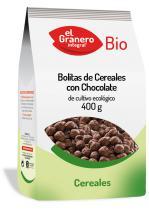 Bolitas de cereales con chocolate bio 400g.