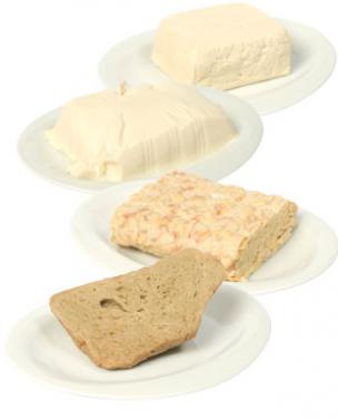 Seitán, tempeh y tofu