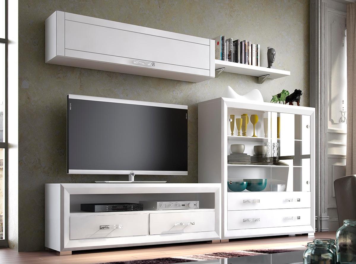 Mueble de salon saran 4 salones modernos hipermueble for Mueble salon logan 004